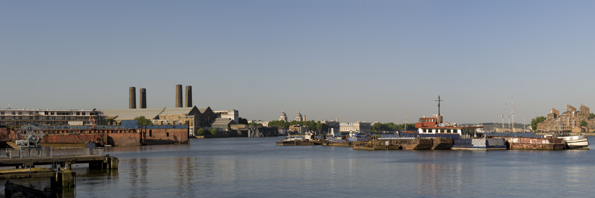 Panoramic picture of East Greenwich Waterfront