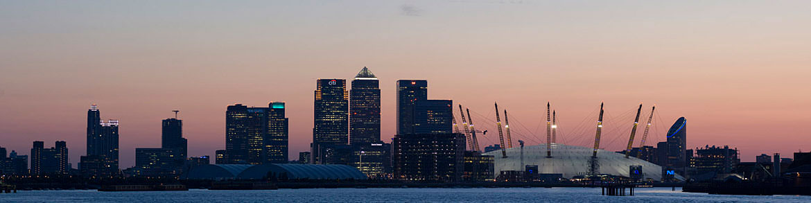 Photograph of Evening at Canary Wharf 2