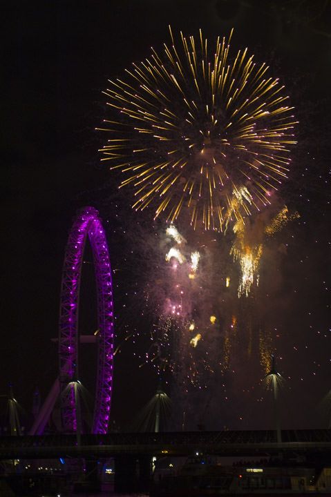 Photograph of Fireworks - London Eye 1