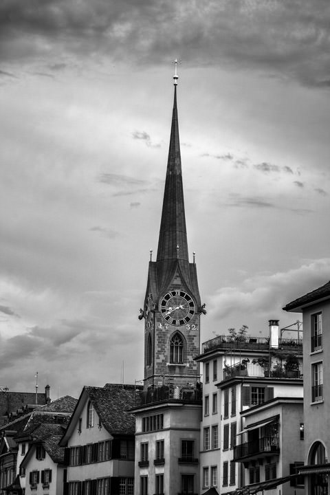 Photograph of Fraumunster Church Zurich 1