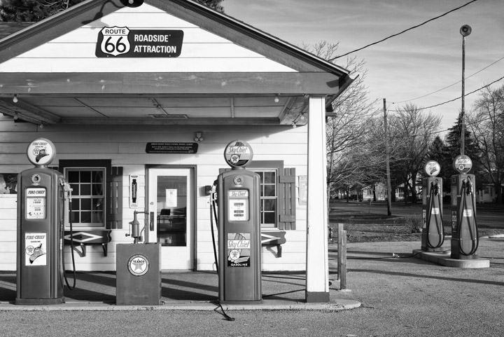 Photograph of Gas Station