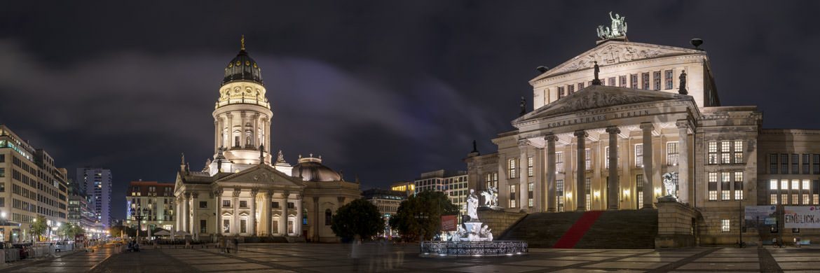 Gendarmenmarkt Square at night