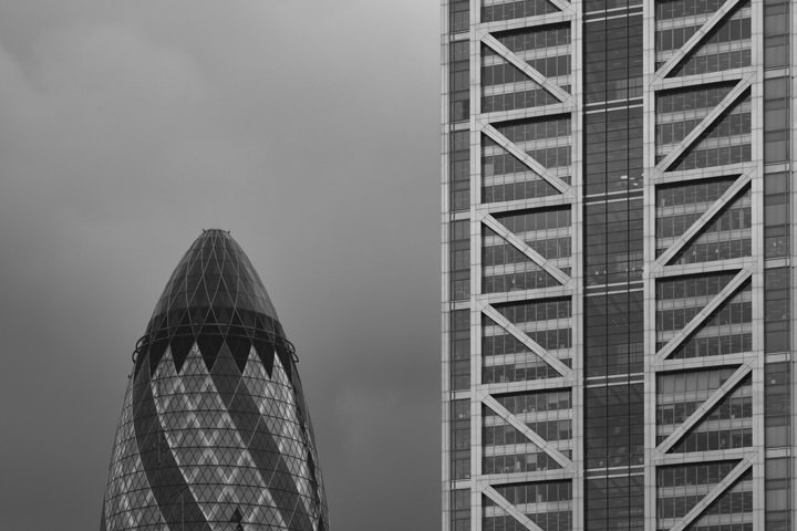 Gherkin and Heron Tower 3