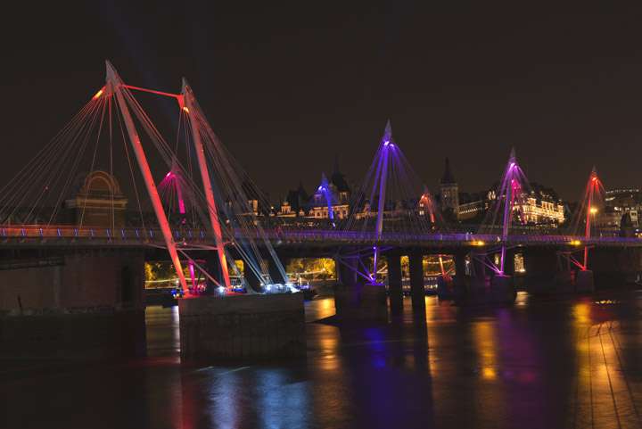 Golden Jubilee Bridges at Night