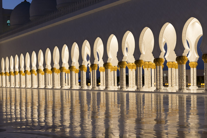 Photograph of Grand Mosque  - Abu Dhabi 14