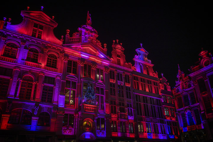 Photograph of Grand Place Red and Blue