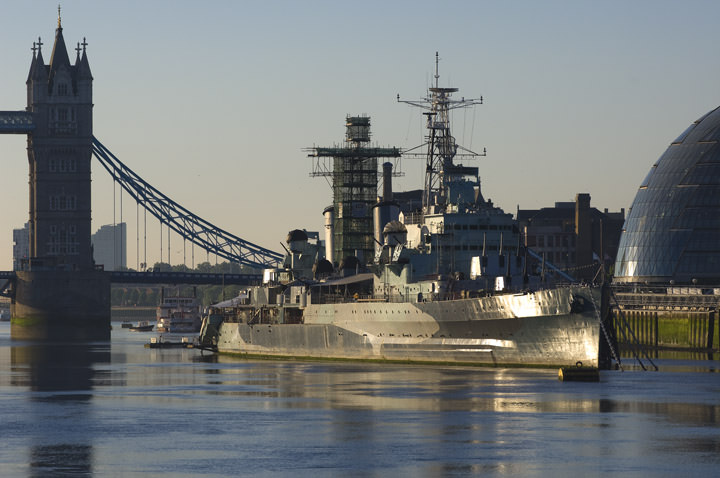 HMS Belfast and Tower Bridge in Soft morning light