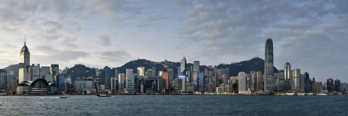Photograph of Hong Kong Skyline Dawn