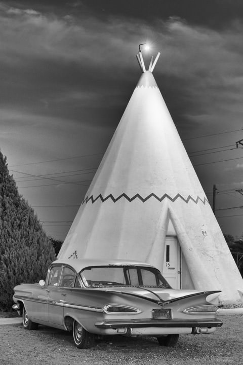 Impala and Wigwam -  Route 66 Holbrook - Arizona