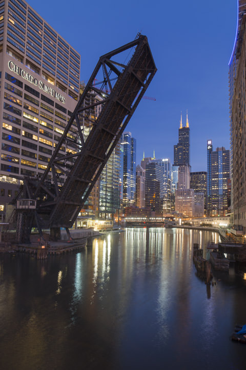 Photograph of Kinzie Street Railroad Bridge