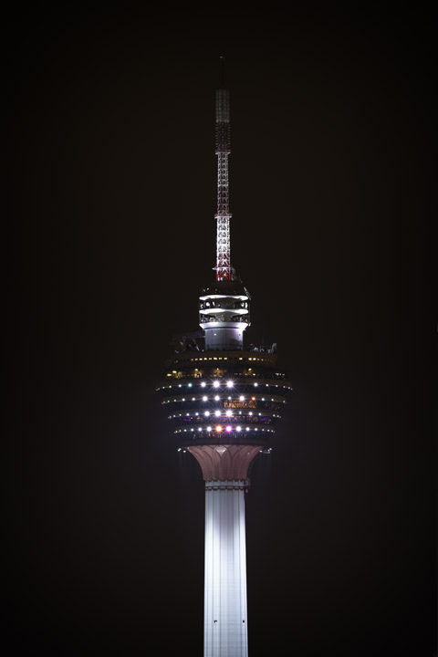 Kuala Lumpur Tower at night