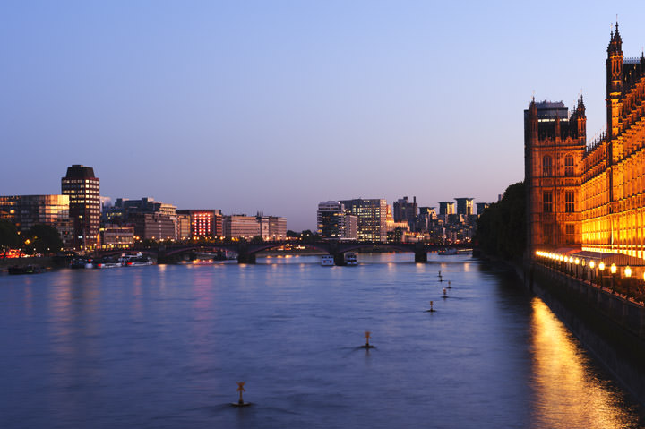Lambeth and Vauxhall viewed from Westminster