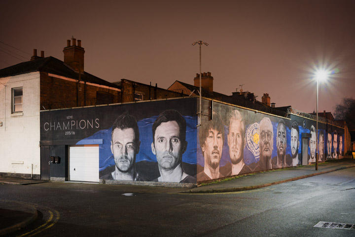 Local Heroes Leicester City Football Team Mural