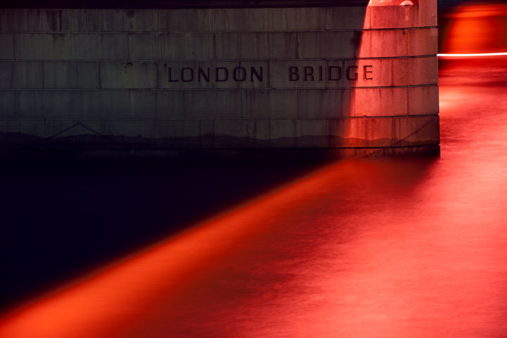 London Bridge Pier Detail in Red