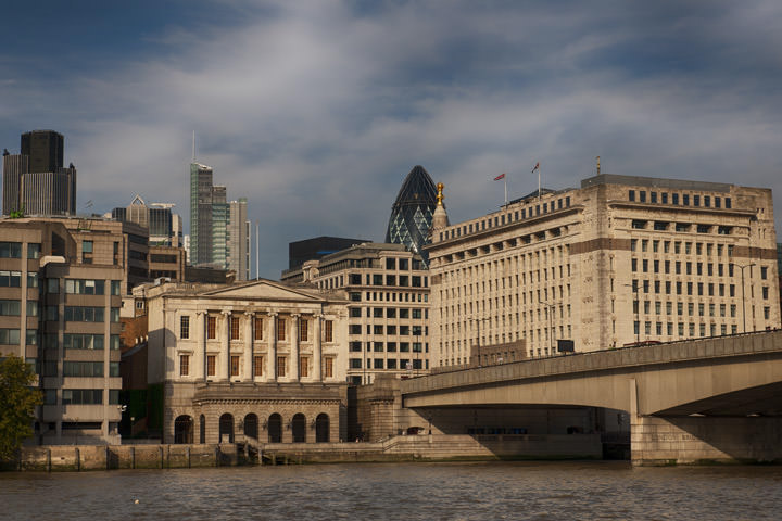 London Bridge and the City of London in daylight