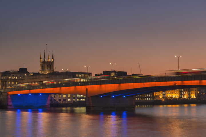 Photograph of London Bridge and Southwark Cathedral