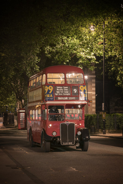 Photograph of London Bus Trafalgar Square