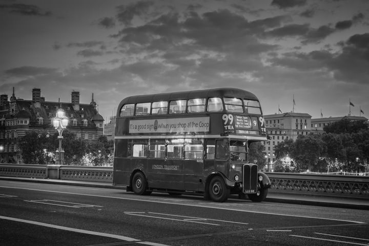 London Bus Westminster Bridge 1
