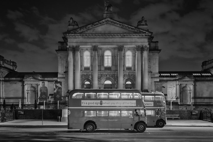 Photograph of London Buses Tate Britain 1