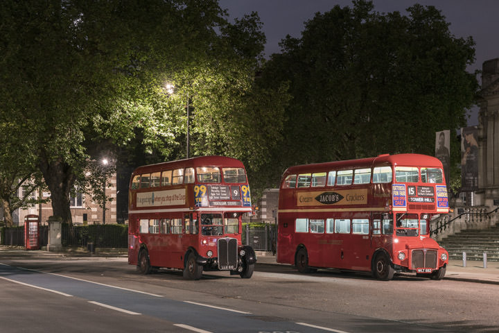 Photograph of London Buses Tate Britain 2