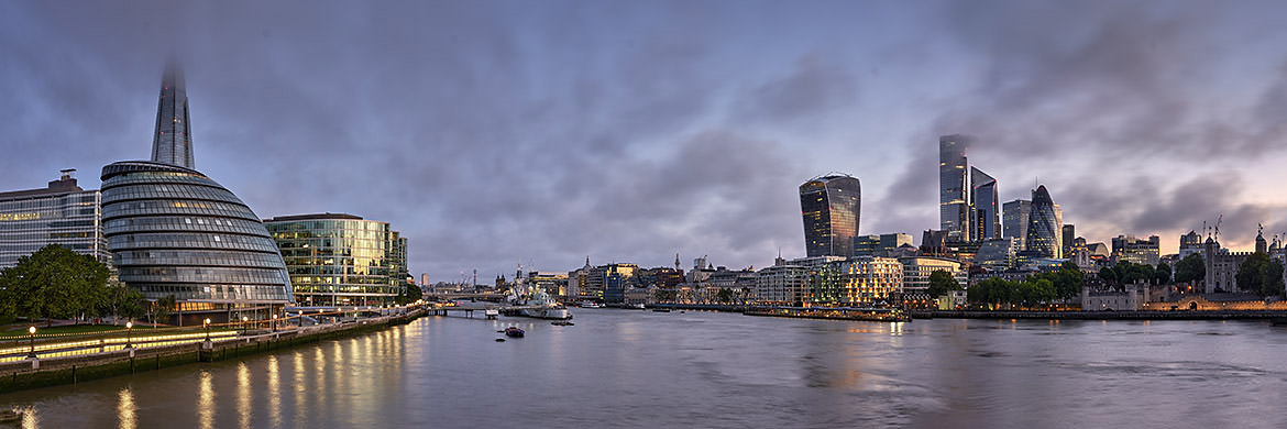 Photograph of London Cityscape Dawn 1