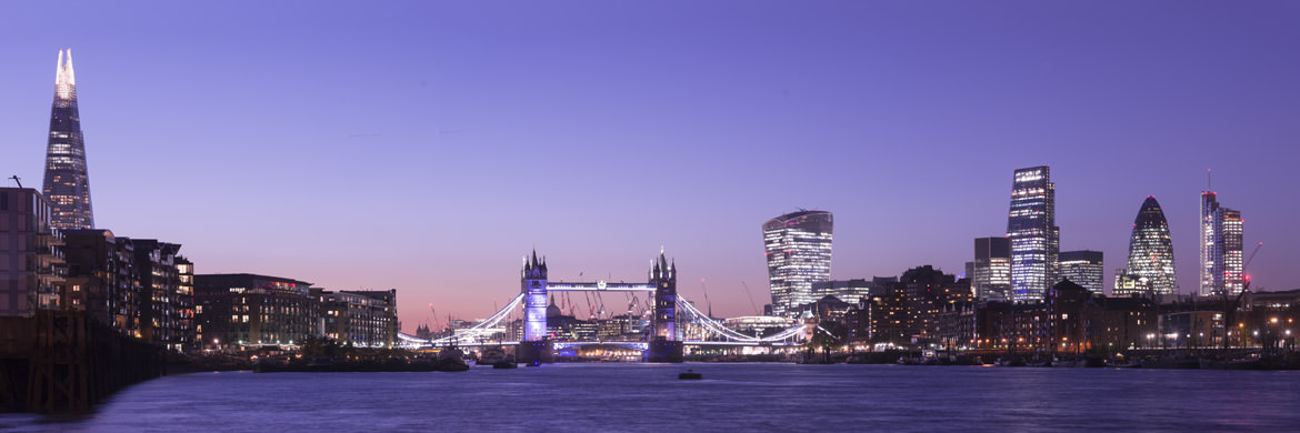 London Cityscape Purple.