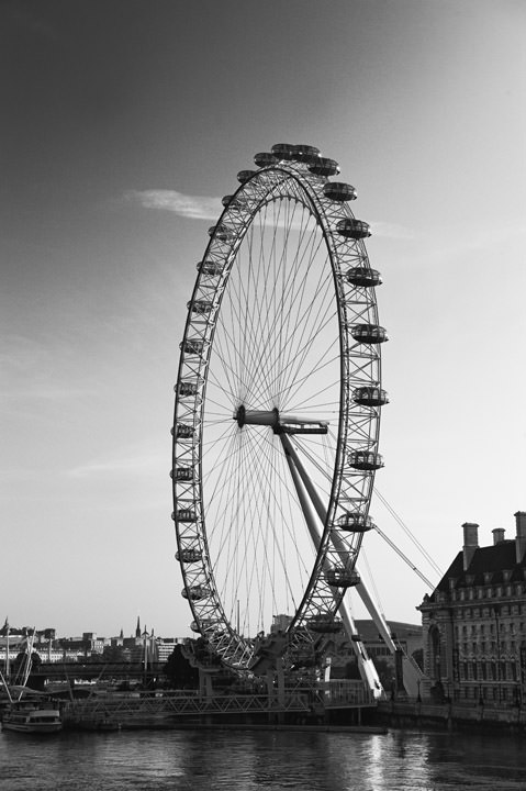 Photograph Of The London Eye Black And White London Photos