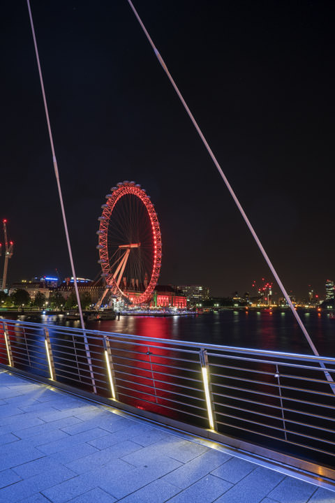 Photograph of London Eye Jubilee Bridge 1
