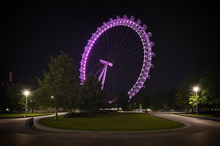 Photograph of London Eye Pink 1
