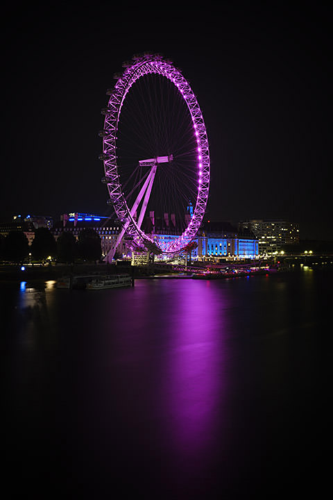 Photograph of London Eye Pink 2