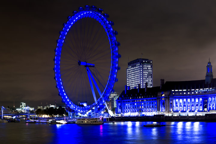 Photograph of London Eye and County Hall 2