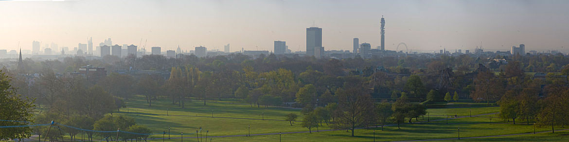Photograph of London Skyline and Regents Park 1
