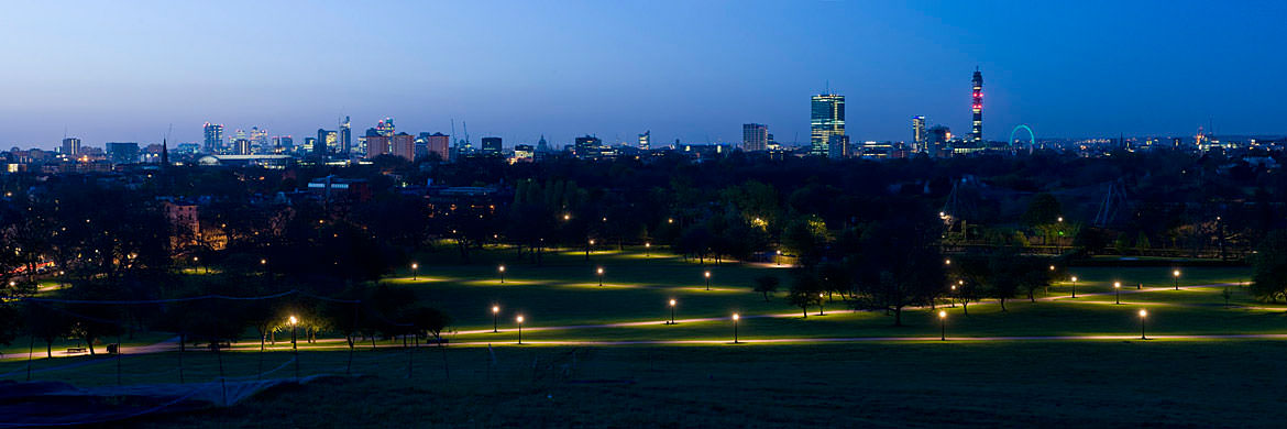 Photograph of London Skyline and Regents Park 2
