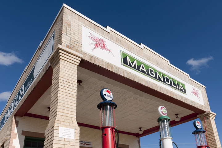 Magnolia Gas Station  Route 66 - Texas