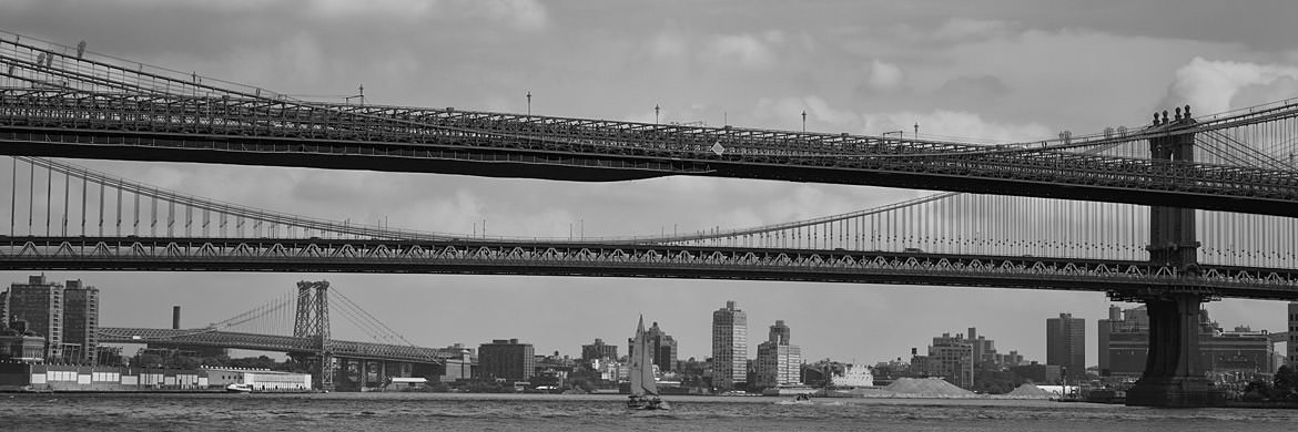 Photograph of Manhattan and Brooklyn Bridges 1