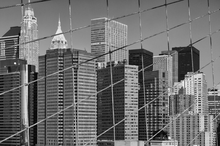 Photograph of Manhattan from Brooklyn Bridge 1