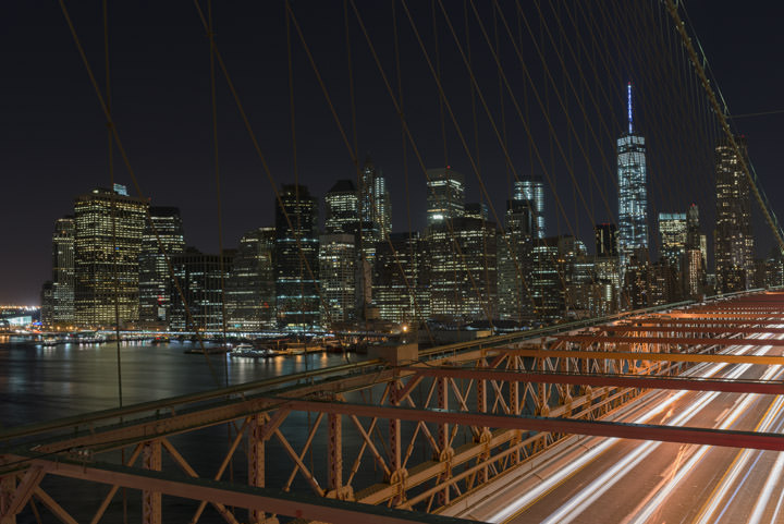 Photograph of Manhattan from Brooklyn Bridge 2