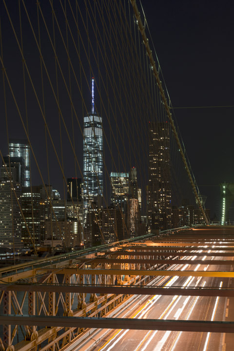 Photograph of Manhattan from Brooklyn Bridge 3