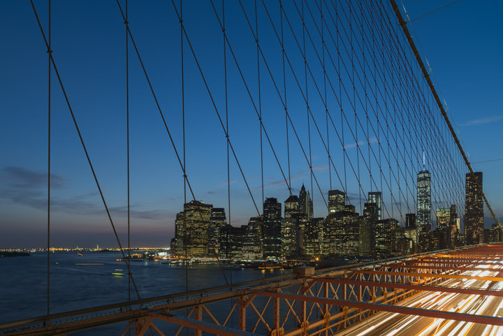 Photograph of Manhattan from Brooklyn Bridge 5