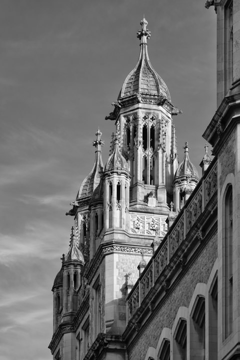 Gothic Tower of Maughan Library 2 part of Kings College London