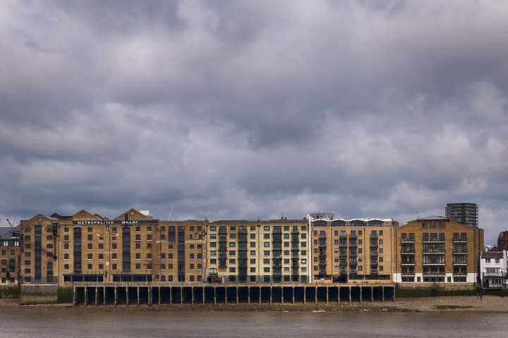 Metropolitan Wharf and the River Thames at Wapping, Tower Hamlets