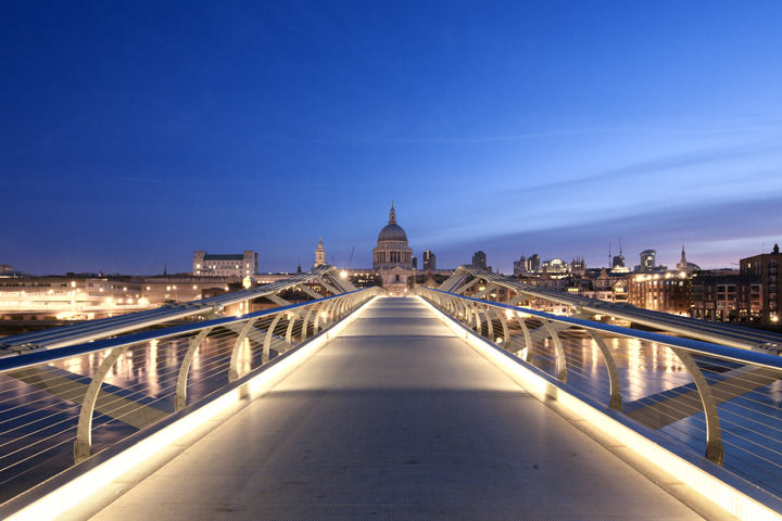 Photograph of Millennium Bridge at St Pauls Cathedral