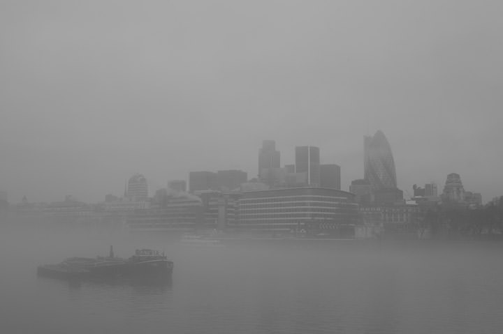 Photograph of Mist over London
