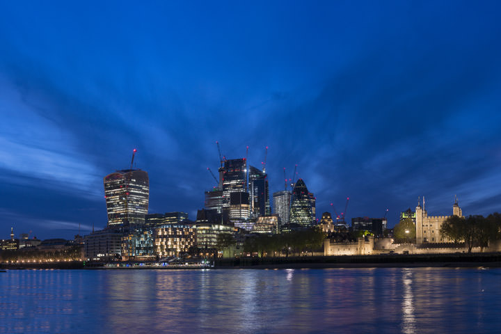 Photograph of Modern London Skyline 1