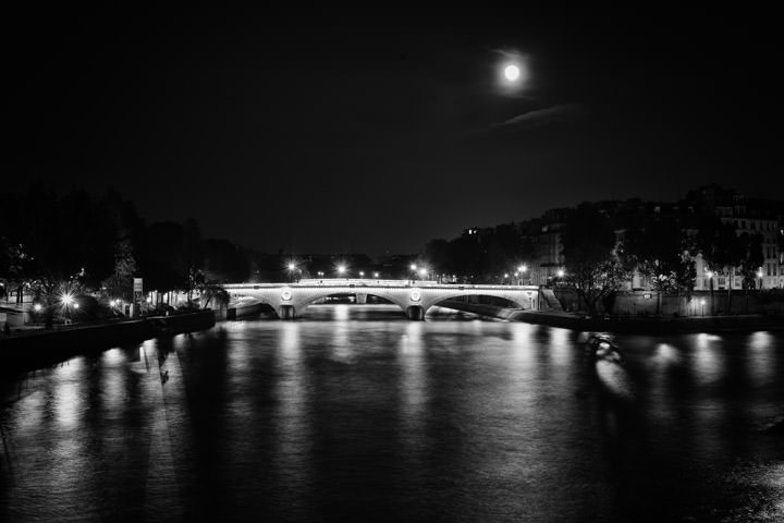 Photograph of Moon over the Seine 1