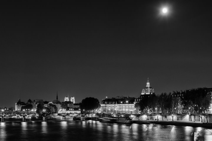 Photograph of Moon over the Seine 2