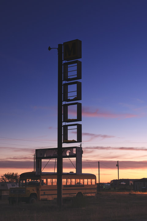 Photograph of Motel sign - Route 66