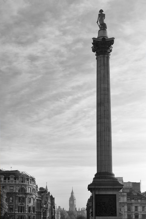Photograph of Nelsons Column Trafalgar Square