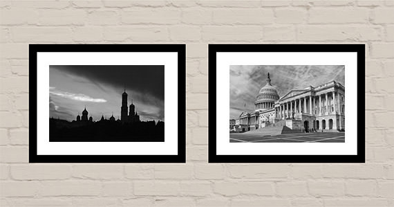 Office art ideas Black and white world cities cover