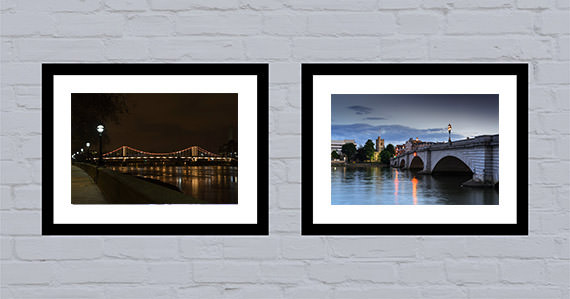 Office art ideas Thames bridges in colour cover new